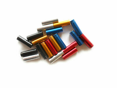 Gear Cable Ferrules Alloy Anodised Long 4mm x 18mm (Pack of 10) Saint