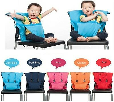 Portable Travel Foldable Washable Baby Infants Dining High Chair Harness Seat