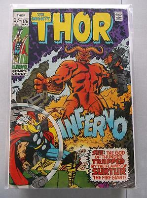 Mighty Thor Vol. 1 (1966-2011) #176 FN- UK Price Variant
