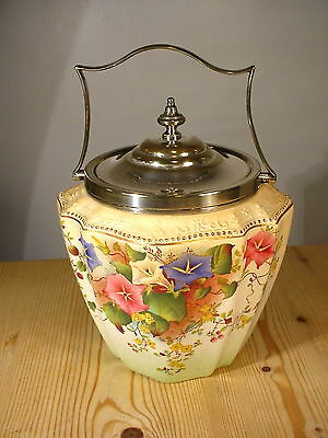 Beautiful W&R Carlton Ware Blushware Biscuit Barrel 2688