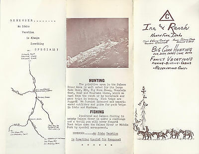 Triangle C Inn and Ranch North Fork Idaho Vintage Travel Pamphlet  Photos Map