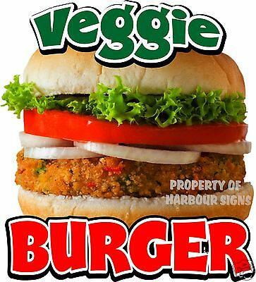"Veggie Burger Decal 14"" Burgers Restaurant Concession Food Truck Vinyl Sticker"