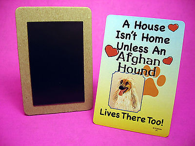 """Afghan Hound"" A House Isn't Home - Dog Fridge Magnet - Sku# 61"