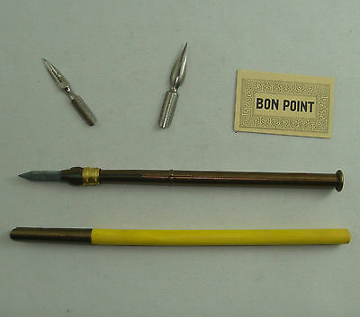 Lot Pa1 Ecole Scolaire Ancien Porte Plume Crayon Ardoise Bon Point Old School