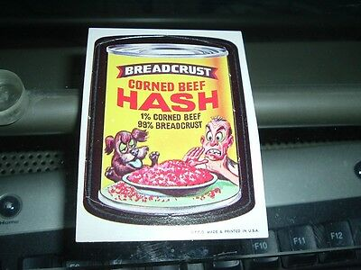 1967 Topps Wacky Packages Die Cut #37 Corned Beef Hash RARE Variation!