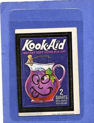 1973 Topps Wacky Packages Kook Aid RED LUDLOW sticker 1st Series