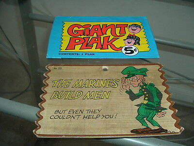 1967 Topps Giant Plaks Plak #23 and original 5 cents wrapper