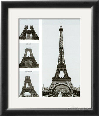 Construction of the Eiffel Tower Framed Art Print by Boyer Viollet, 12.5x15