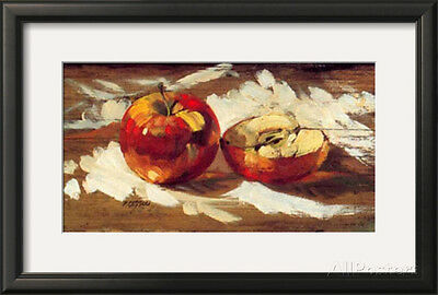Two Red Apples Framed Art Print By Pascal Cessou - 21.5x14.5