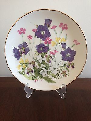 "Royal Albert Decorative Plate ""Meadow Pinks"""