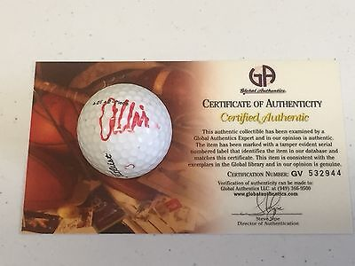 Anthony Kim PGA Golf Champ Signed Autograph Golf Ball GA COA