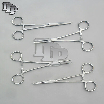 "HEMOSTATS / LOCKING FORCEPS 6"" NEW 2 curved 2 straight"