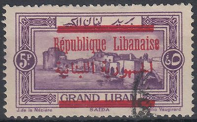 Liban Lebanon 1928 Mi.139b fine used Definitives Freimarken, red ovpt. [sr1295]