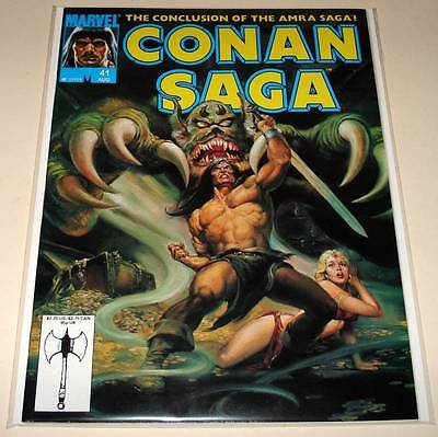 CONAN SAGA  Marvel Comics Magazine # 41   Aug 1990  VFN    Conan The Barbarian