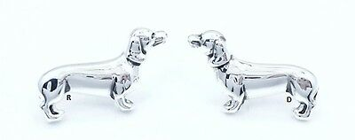 Dachshund Lovers Dog Breed Post Earrings Wiener Dog Silver plated