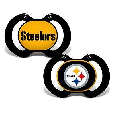 016601eb Pittsburgh Steelers 2-Pack Baby Infant Orthodontic Pacifier Set Nfl Football