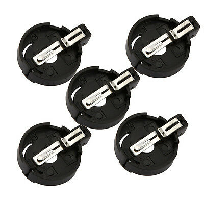 Lot 5 Round Button Coin Cell Socket Holder Case for 3V CR2032 CR2025 Battery DIY