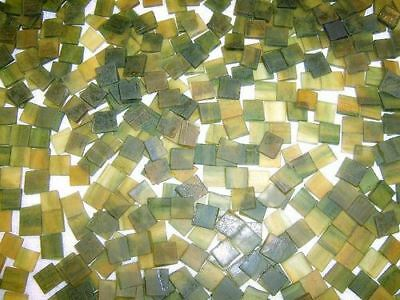 """100 1/2"""" Valley Green Tumbled Stained Glass Mosaic Tiles"""