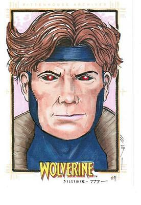 Wolverine -  Color Sketch Card by Miller - Gambit