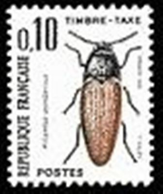 "FRANCE STAMP TIMBRE TAXE N° 103 "" INSECTES , COLEOPTERES 10c."" NEUF xx TTB"