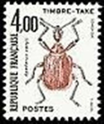 """FRANCE STAMP TIMBRE TAXE N° 108 """" INSECTES , COLEOPTERES 4F"""" NEUF xx TTB"""