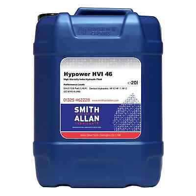 Hydraulic Oil ISO 46 HVI High Viscosity Index Fluid 20 Litre