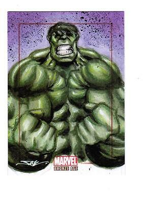 Marvel Bronze Age -  Color Sketch Card by Kyle - Hulk