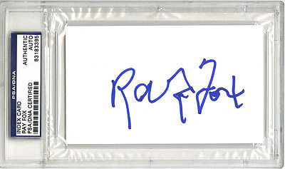 Ray Fox SIGNED 3x5 Index Card NASCAR Legend Owner PSA/DNA AUTOGRAPHED