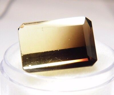 Bi-color Smoky Quartz Natural Gemstone Emerald Cut