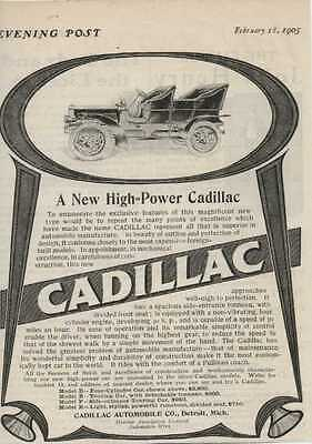 1905 Cadillac Model D Detroit MI Automobile Magazine Ad ma5164