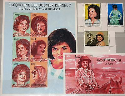 GUINEA 2002 3855-63 Block 744 2140-44 Jacquelin Kennedy Onassis First Lady MNH