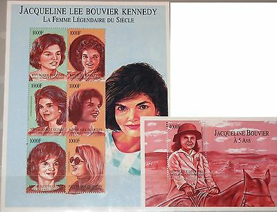 GUINEA 2002 3858-63 Block 744 2143-44 Jacquelin Kennedy Onassis First Lady MNH