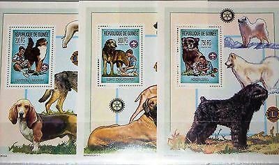 GUINEA 2002 Block 789-91 2211 Boy Scouts Pfadfinder Dogs Hunde Animals Fauna MNH