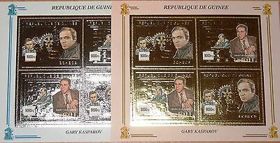 GUINEA 2002 Klb 3876-79 Gary Kasparow Paul Morphy Rotary Chess Player Schach MNH