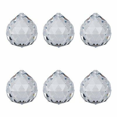 5 Clear Chandelier Glass Crystals Ball Prisms Parts Hanging Drops Pendants 40mm