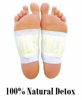 100 X Herbal Detox Foot Pads Patches Remove Body Toxins Diet Weight Loss Health