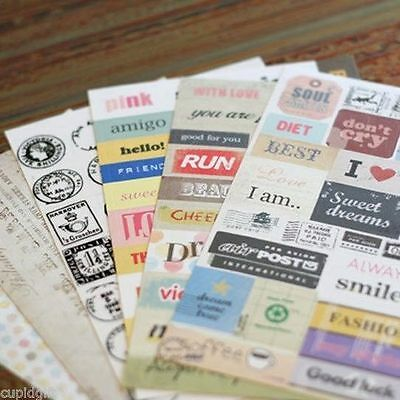 Pony Brown Message Sticker Diary Book Scrapbooking Cute Washi Index Decor Deco