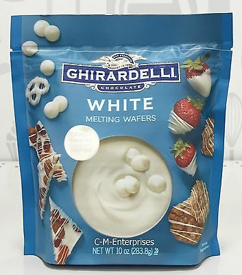 Ghirardelli White Melting Wafers Candy Making & Dipping Chocolate 10 oz