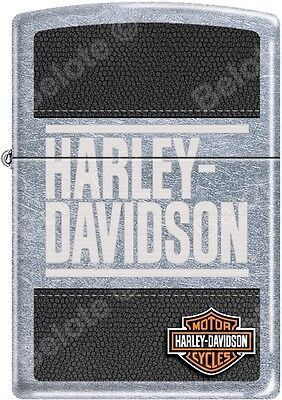 Zippo HD Harley Davidson Leather Street Chrome WindProof Lighter NEW Rare