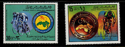 Libya  Scott# 840-841  Mnh  Cycling Topical