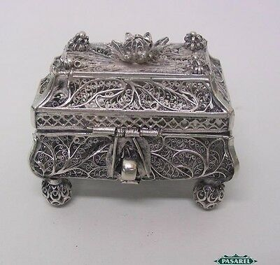 Rare Russian 91 Silver Filigree Spice Box Besamim By Fyedor Pichugin Moscow 1857