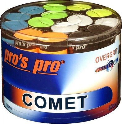 VORBESTELLUNG 60 x Pros Pro Griffband COMET bunt/mix (Overgrips ähnl.Ultra-Tacky