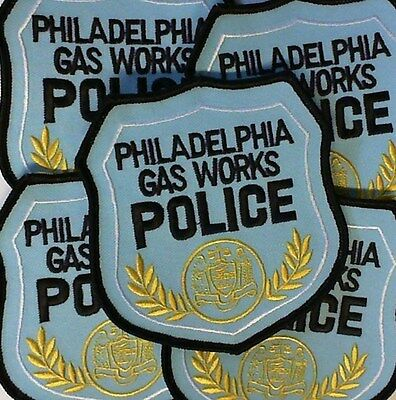 (5) FIVE Phildelphia Gas Works Police Patches/Crest/Applique 4x4 Inch