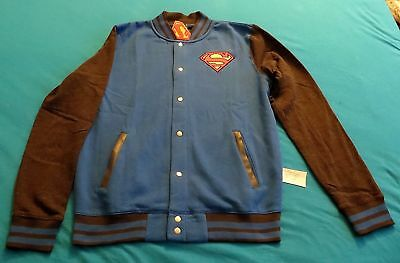 Dc Comics Superman Xl Lettermans Jacket New