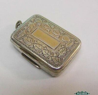 George III Sterling Silver Vinaigrette By William Lea Birmingham England 1814