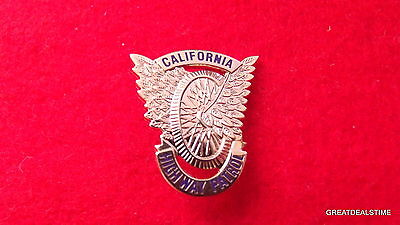 CA,California State Police Gold Badge,Highway Patrol Motorcycle Wings Mini PIN