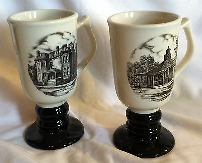 Hall 1981 & 1979 Tri State Pottery Festival Mugs Octagon House & Ikirt Home