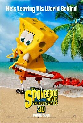 5Spongebob 2 Sponge Out of Water - original DS movie poster - D/S 27x40 Adv