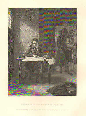 France, Napoleon In The Prison Of Nice, by E.M. Ward, 1879 Antique Art, Print,
