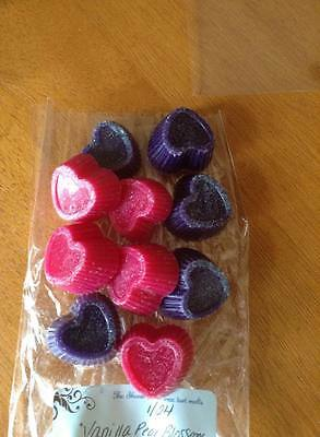 Wax tarts over 350 scents to choose Heart shapes 2 ounces ..8-10 hearts total